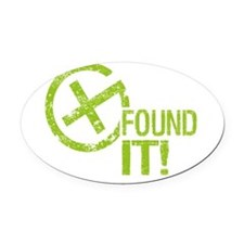 Geocaching FOUND IT Oval Car Magnet