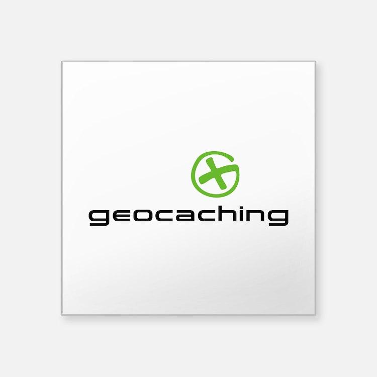 "Geocaching Logo Square Sticker 3"" x 3"""