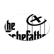 Geocaching THE CACHEFATHER black Oval Car Magnet