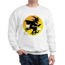 The Witch is Flying.png Sweatshirt