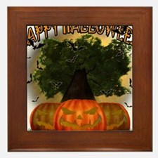 Happy Halloween Tree.png Framed Tile