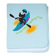 Power boats baby blanket