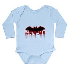 Bite Me.png Long Sleeve Infant Bodysuit