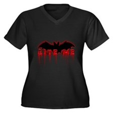 Bite Me.png Women's Plus Size V-Neck Dark T-Shirt