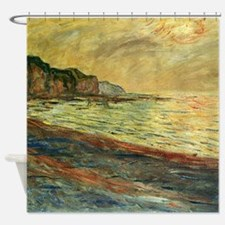 Monet Beach at Pourville Shower Curtain