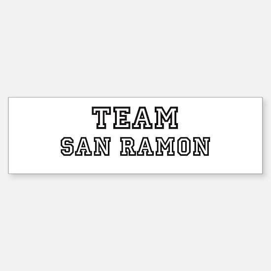 Team San Ramon Bumper Bumper Bumper Sticker