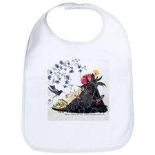 Scottish Terrier and Hummingbird Bib