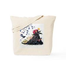 Scottish Terrier and Hummingbird Tote Bag