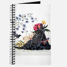 Scottish Terrier and Hummingbird Journal