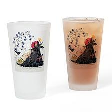 Scottish Terrier and Hummingbird Drinking Glass