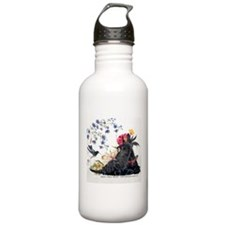 Scottish Terrier and Hummingbird Water Bottle