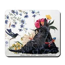 Scottish Terrier Hummingbird Mousepad