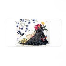 Scottish Terrier Hummingbird Aluminum License Plat