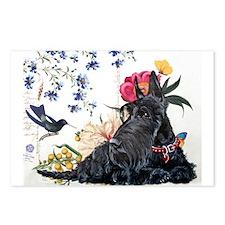 Scottish Terrier Hummingbird Postcards (Package of