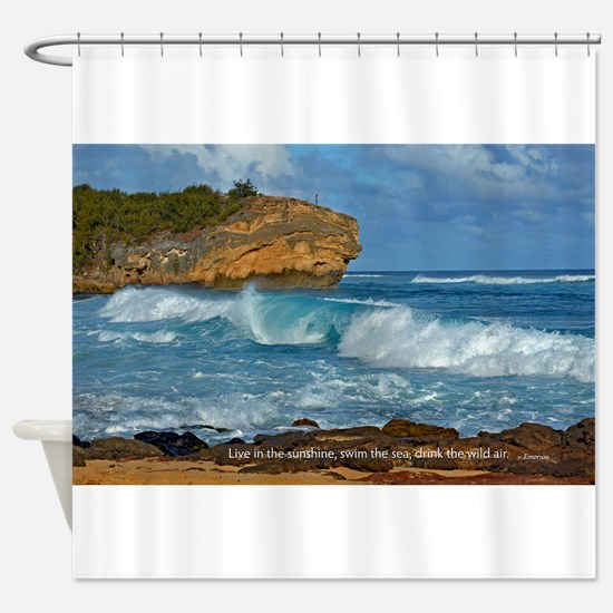 Shipwreck Beach Shorebreaks Shower Curtain