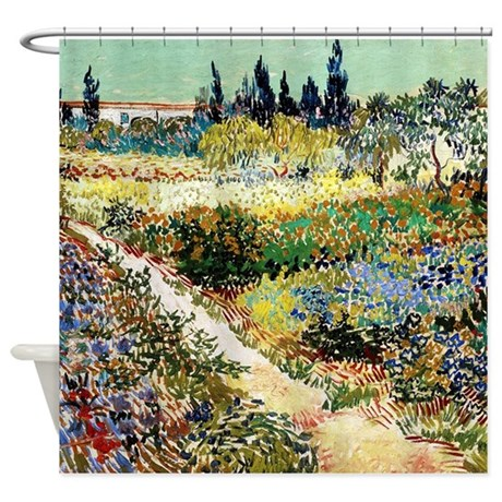 Van Gogh Garden At Arles Shower Curtain