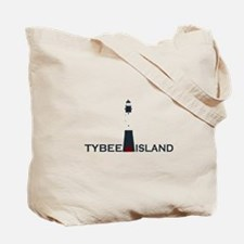 Tybee Island Lighthouse Design. Tote Bag