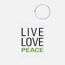 Live Love Peace Keychains