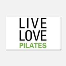 Live Love Pilates Car Magnet 20 x 12