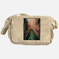 Canal in Venice Italy Messenger Bag