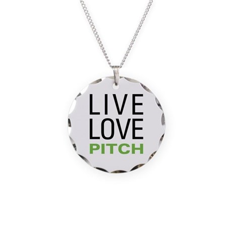 Live Love Pitch Necklace Circle Charm