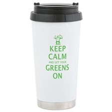 Keep calm in green Stainless Steel Travel Mug