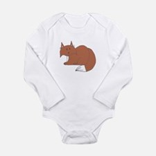 Fox Long Sleeve Infant Bodysuit