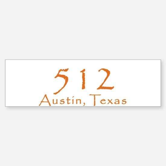 512 Austin Texas Area Code T-Shirt Bumper Bumper Sticker