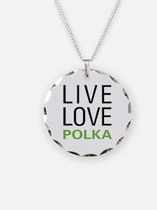 Live Love Polka Necklace