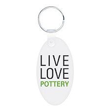 Live Love Pottery Keychains