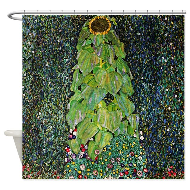 Gustav Klimt The Sunflower Shower Curtain By Iloveyou1