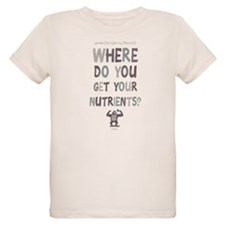 Where Do You Get Your Nutrients? Organic Kids T-Sh