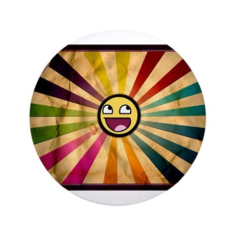 """Awesome Smiley 3.5"""" Button"""