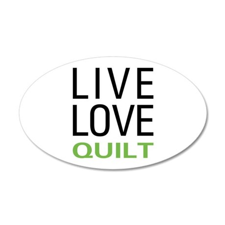 Live Love Quilt 35x21 Oval Wall Decal