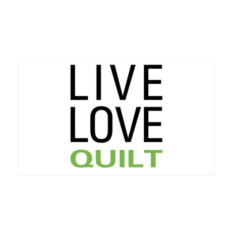 Live Love Quilt 35x21 Wall Decal