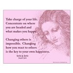 """16x20 Poster """"Take Charge"""""""