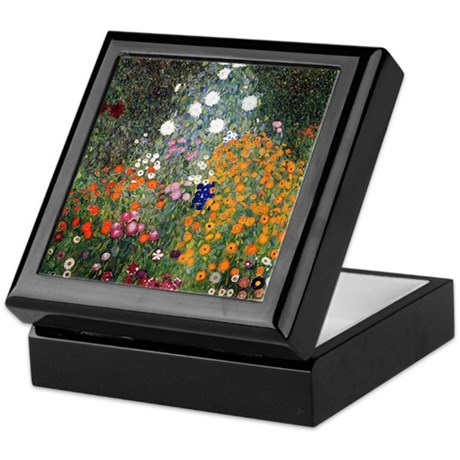 Gustav Klimt Flower Garden Keepsake Box