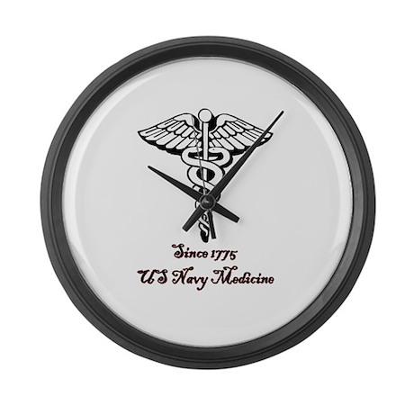 US Navy Medicine Large Wall Clock
