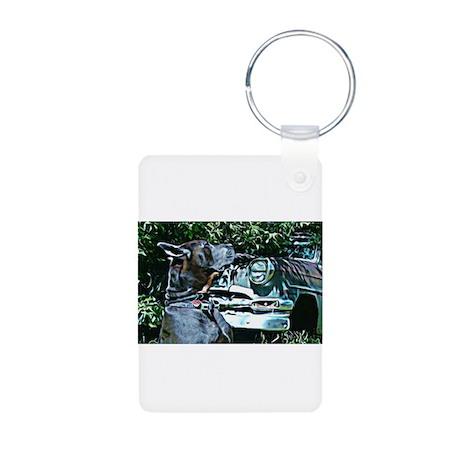 Great Danes Are Love Aluminum Photo Keychain
