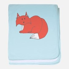 Cute Wildlife fox baby blanket