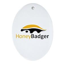 Honey Badger Logo Ornament (Oval)
