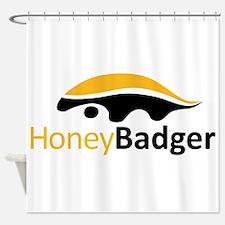 Honey Badger Logo Shower Curtain
