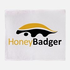 Honey Badger Logo Throw Blanket