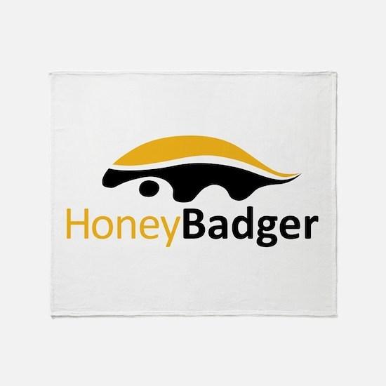 Honey Badger Logo Throw Blanket