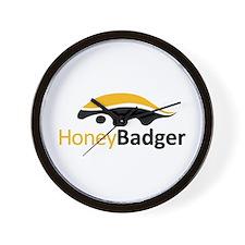 Honey Badger Logo Wall Clock