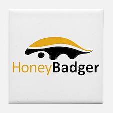 Honey Badger Logo Tile Coaster