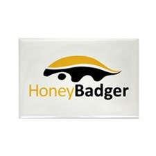 Honey Badger Logo Rectangle Magnet