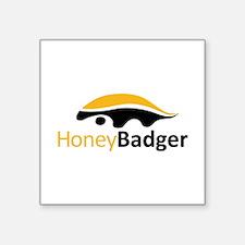 "Honey Badger Logo Square Sticker 3"" x 3"""