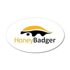 Honey Badger Logo Wall Decal