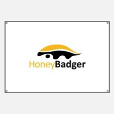Honey Badger Logo Banner